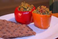 plnene papriky - quinoa a zelenina