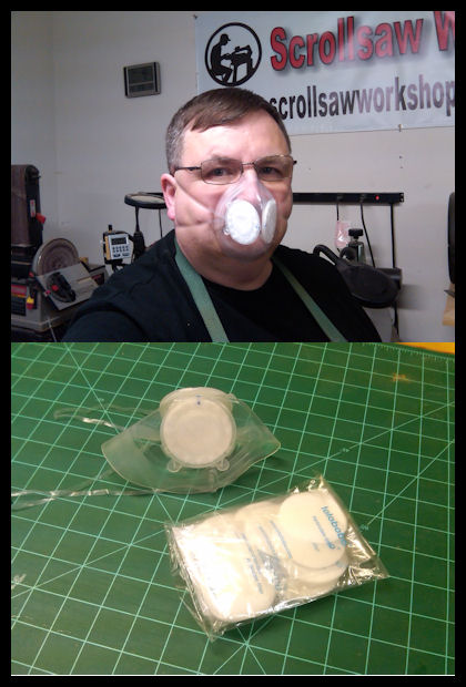 Steve of Srollsaw workshop testing Totobobo mask