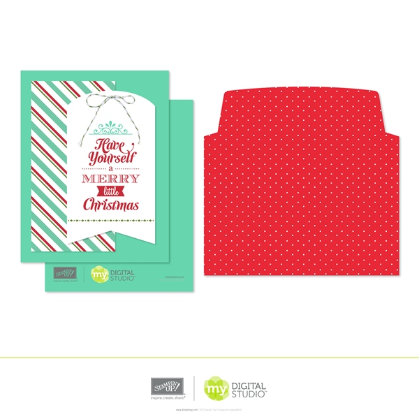 Stampin' Up! Merry Little Christmas Digital Greeting Card Kit