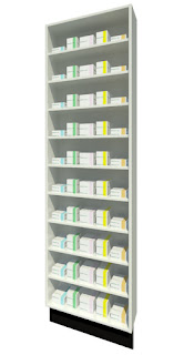 Full Height Dispensary Shelving