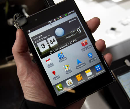 hands on lg optimus vu update upgrade