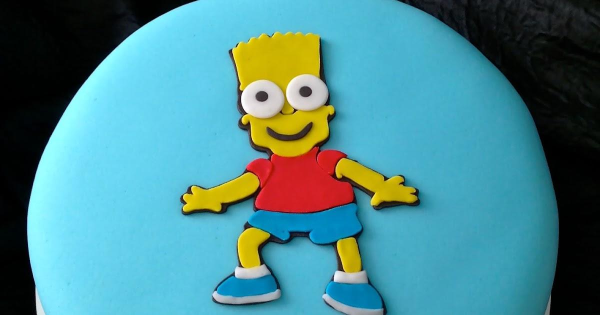 Bolo bart simpson delicias da lu confeitaria artesanal - Bart simpson nu ...