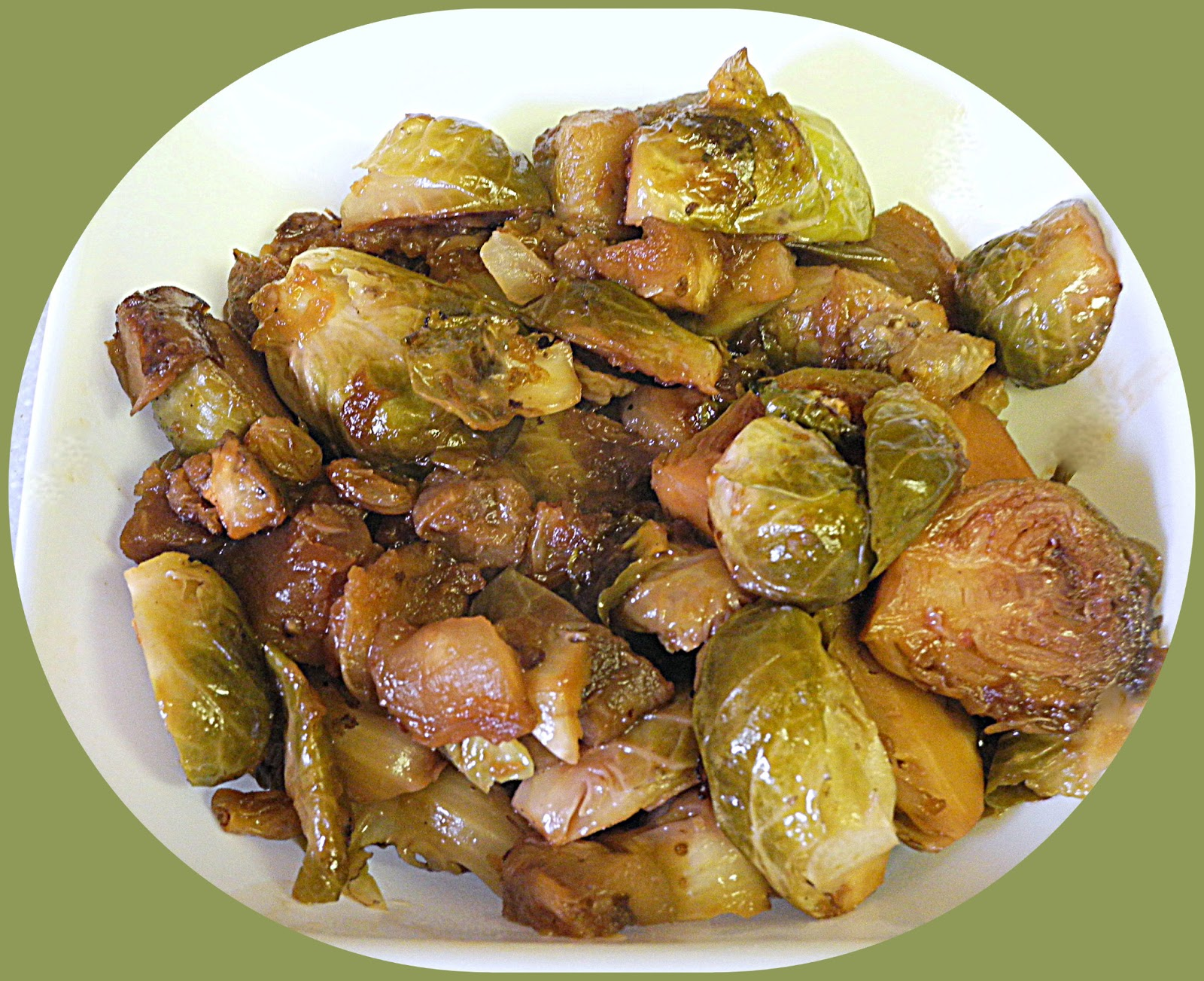 BIZZY BAKES: Brussels Sprouts with Maple Syrup
