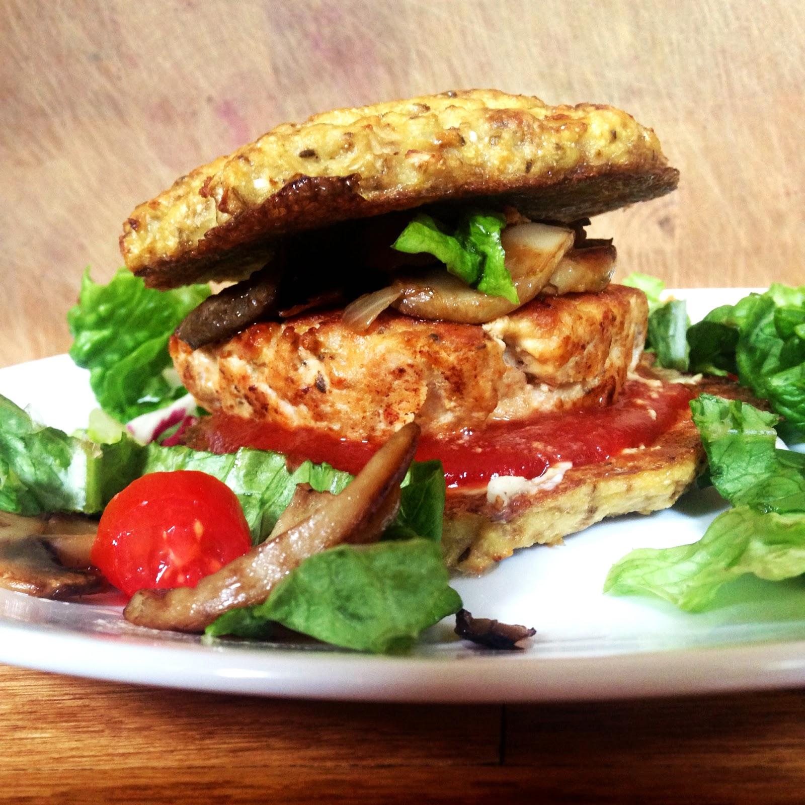 Live Right Be Healthy: Homemade Turkey Burgers on a Cauliflower Bun
