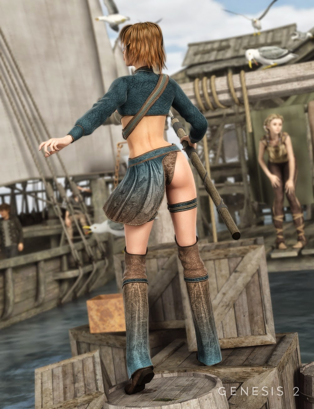Harpoon Fille Outfit pour Genesis 2 Femme