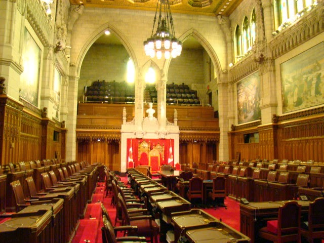 Sala del Senado. Parlamento de Ottawa. Canada.