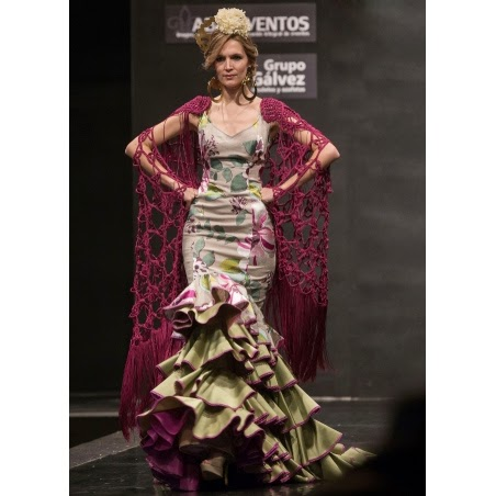trajes de flamenca 2015 Angeles Verano