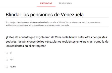 ENCUESTA: Blindar las pensiones DE VENEZUELA