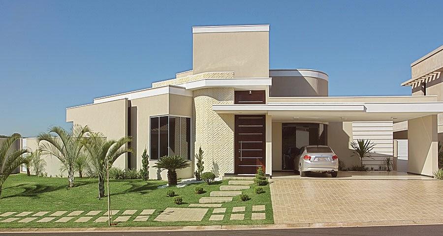 Construindo minha casa clean 30 fachadas de casas for Fachadas para residencias