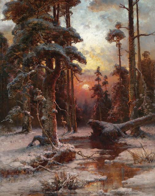 зима в живописи Юлий Клевер