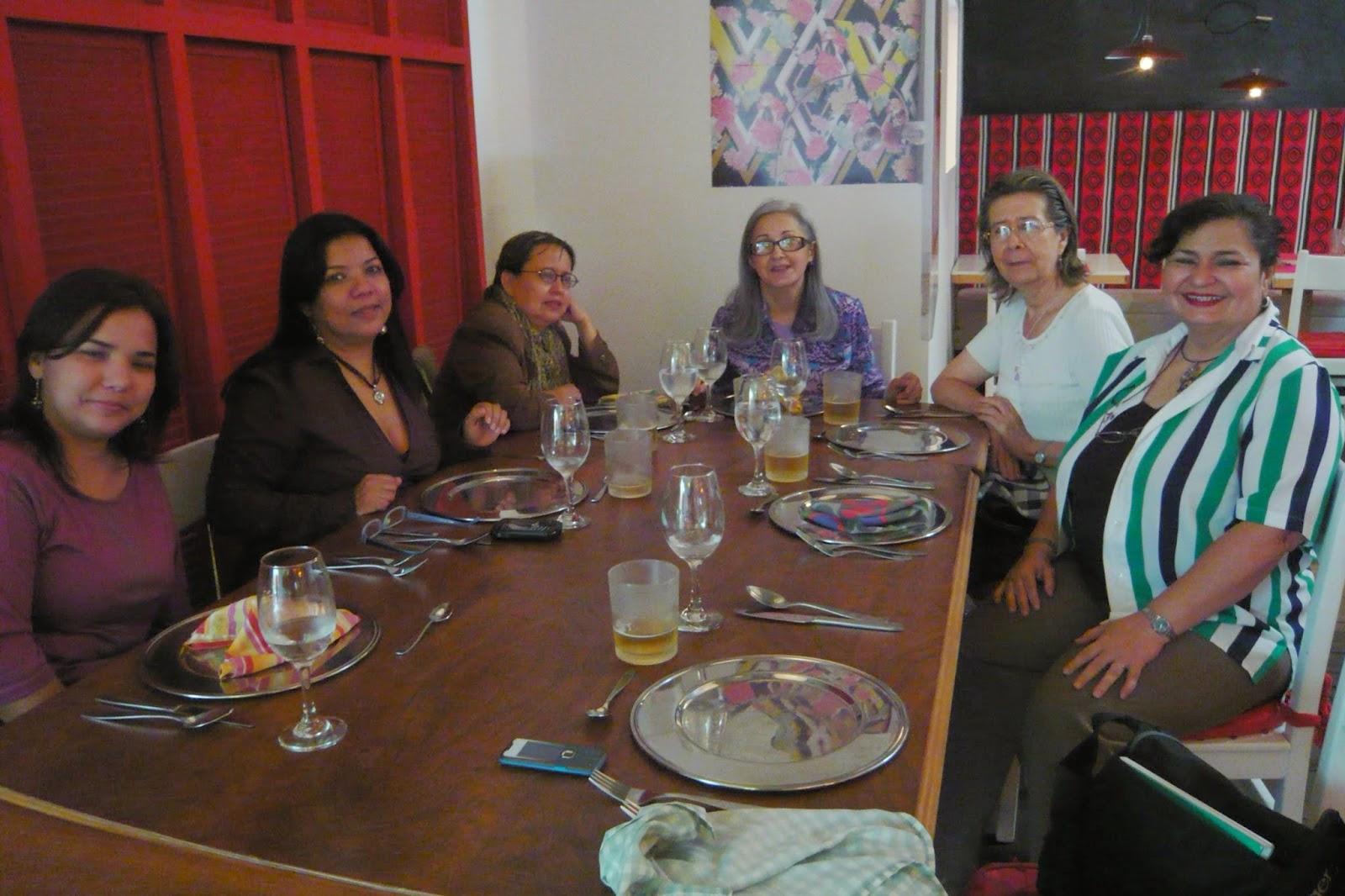 En un almuerzo con gente del Doctorado en Cs. Humanas