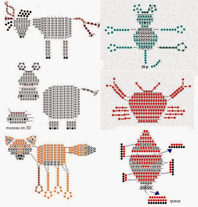 Такие схемы плетения из бисера