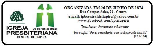 BLOG IGREJA PRESBITERIANA CENTRAL DE ITAPIRA