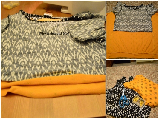 remix mixed print shirt tutorial pics {who is that girl mo?}