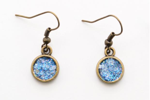 Glitter Druzy Earrings DIY