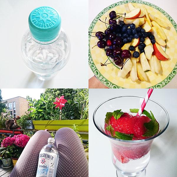 klares Wasser, lecker Obst, Entspannung und Entschleunigung, spritziges Wasser mit frechen Früchtchen