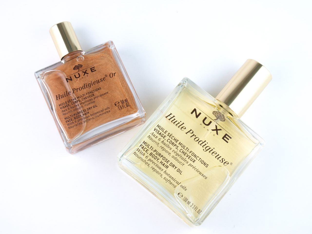 Nuxe Huile Prodigieuse & Huile Prodigieuse Or Multi-Purpose Dry Oil for Face, Body & Hair: Review