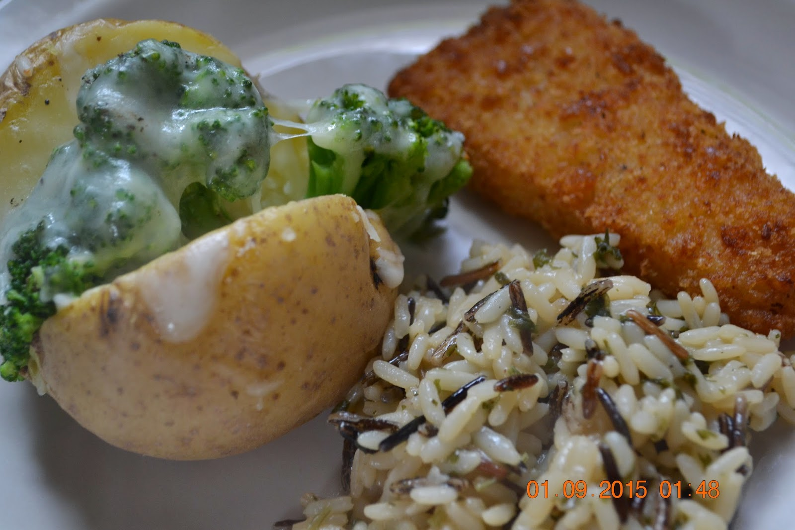 Spice up your life baked potatoes wild rice and breaded for Baked fish and rice