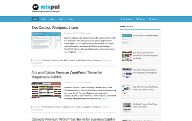 Mixpal Blogger Template