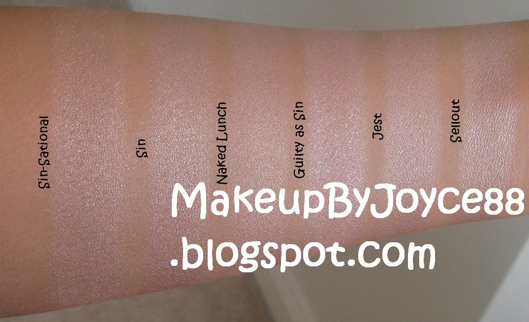 ❤ MakeupByJoyce ❤** !: Eyeshadow Swatches & Comparisons: Urban ...