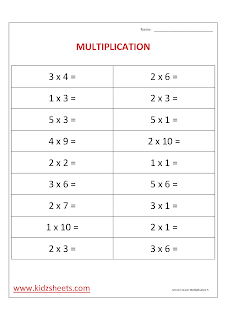 Free Printable Second Grade Worksheets, Free Worksheets, Kids Maths Worksheets, Maths Worksheets, Second Grade Multiplication  Worksheets, Multiplication , Second Grade,  Kids Multiplication .
