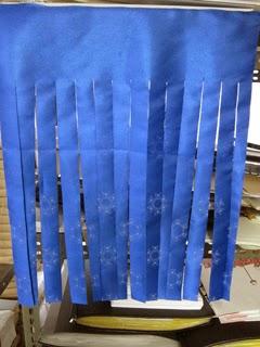 ヒートカッターで溶断して製作した暖簾の写真