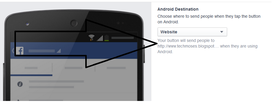 how to add facebook call to action button
