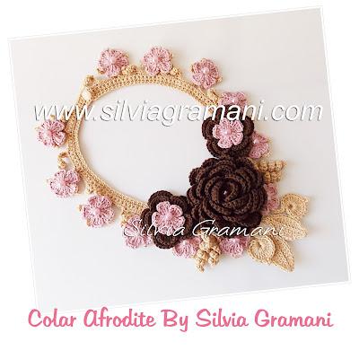 colar de crochê com flores, flores de crochê, como fazer colar de crochê com flores, pap colar de crochê