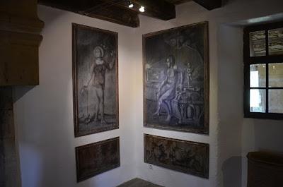 Castell de Puymartin. Reproducció de les pintures del gabinet mitològic