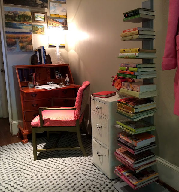 pink and orange desk  Laurl Designs
