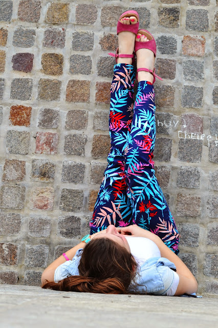 outfit, ootd, fashion blogger argentina, tropical print, pants