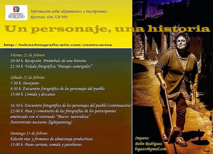 21-22-23/Febrero: Curso retrato fotográfico. San Miguel del Robledo