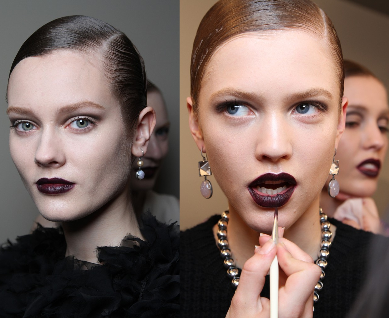make up trend dark lips