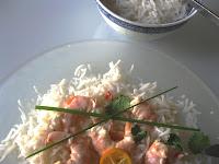 Gambas ou crevettes façon thaï - piment, citron vert, lait de coco, coriandre 2