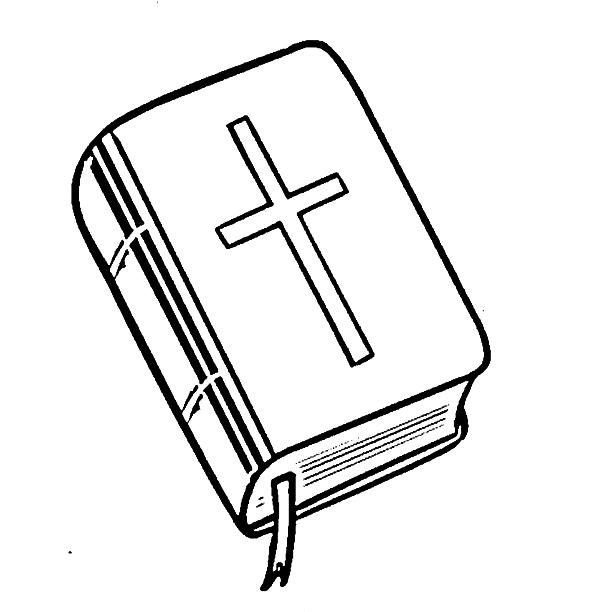 Dibujos de una Biblia para colorear | Postales Cristianos