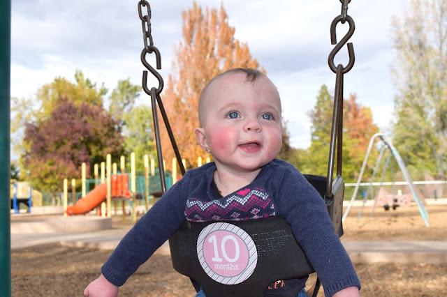 twins in a swing