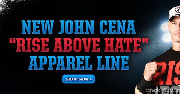 """Cenation FB Covers: New John Cena with """"RISE ABOVE HATE ..."""