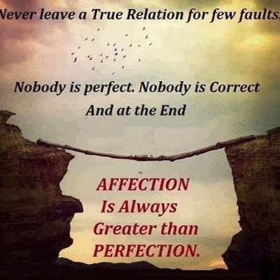 Affection and Perfection Quotes