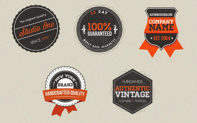 Vintage Badges PSD