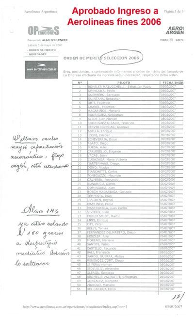 ALAN APROBÓ EXAMEN INGRESO AEROLÍNEAS ARGENTINAS