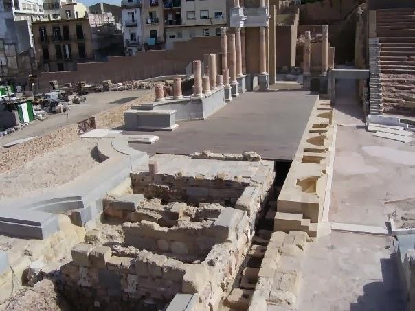 Mirando al sur teatro romano de cartagena - Marmoles torre pacheco ...
