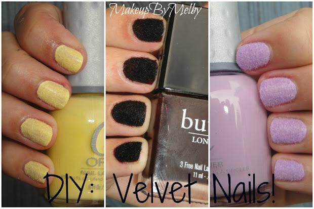makeupbymelby diy velvet nails