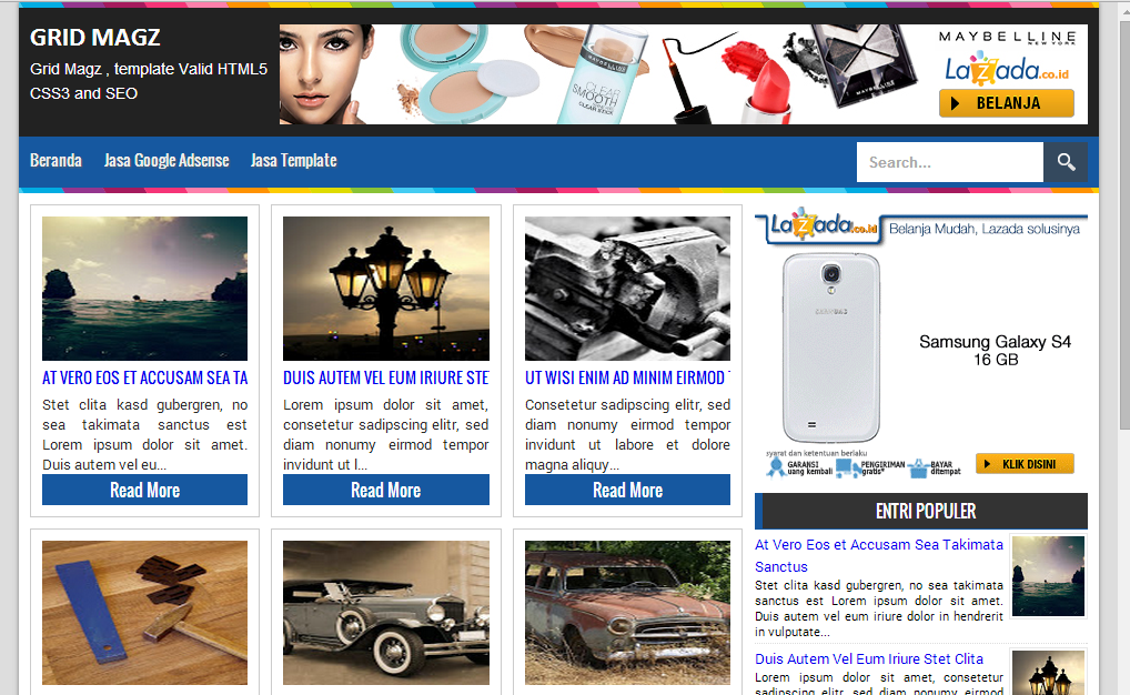 Update Grid Magz Responsive Blogger Template V2