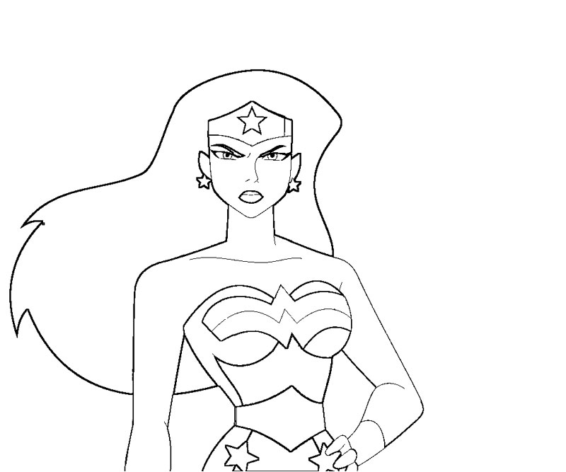 Printable Wonder Woman 9 Coloring Page title=