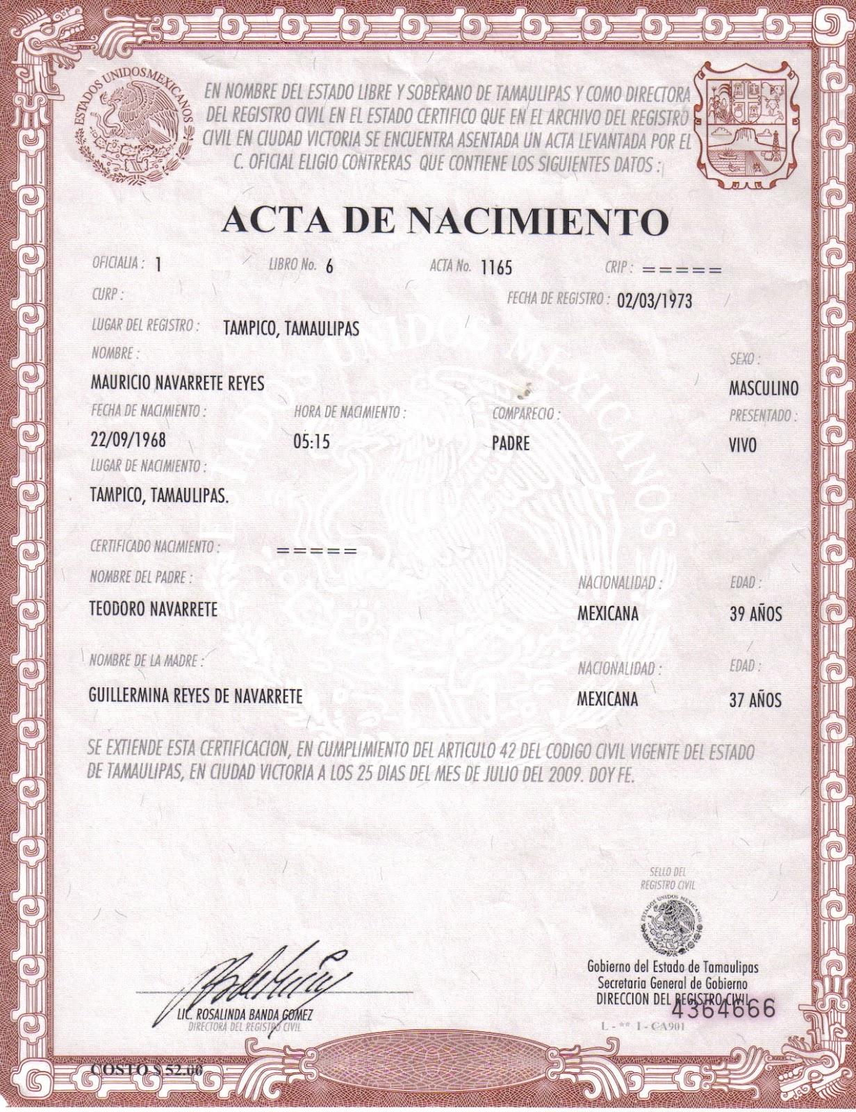 Asombroso Falsas Plantillas De Certificado De Nacimiento Imágenes ...