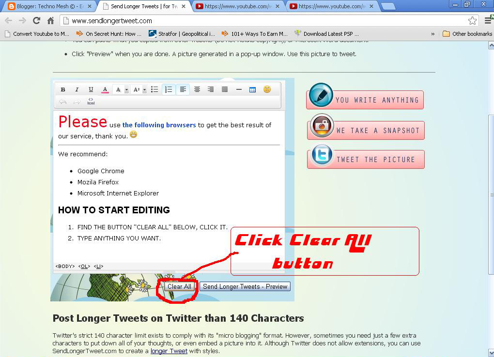 how to write a long tweet on twitter