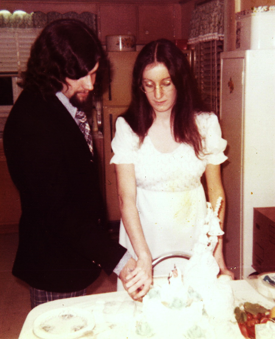 Rich & I on our wedding day,Nov.10, 1973