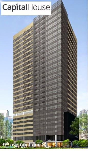 Building Plan of Capital House New Office Building in Bonifacio Global City