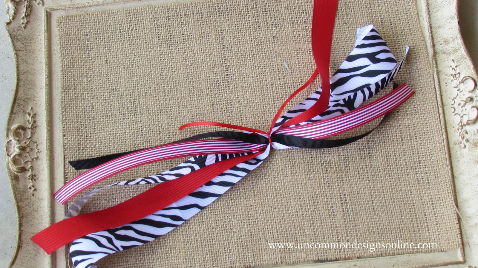 how to tie a bow with thin ribbon