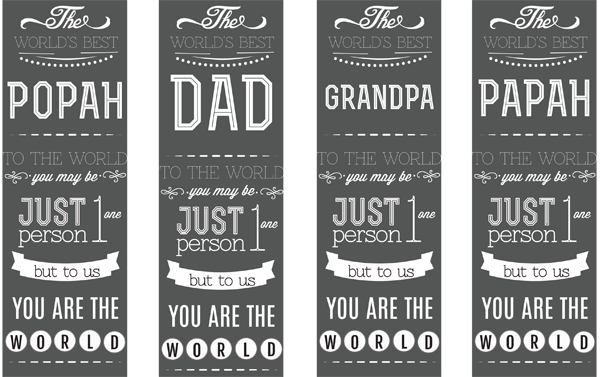 World's Best Dad Free Printable Bookmarks